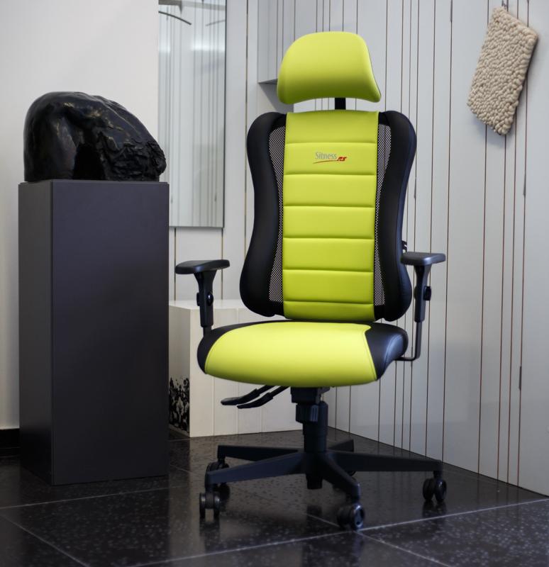 ergonomska-stolica-radna-žuto-zeleno-domnakvadrat