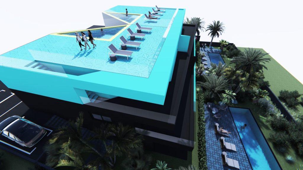 Villa M - pogled na bazene