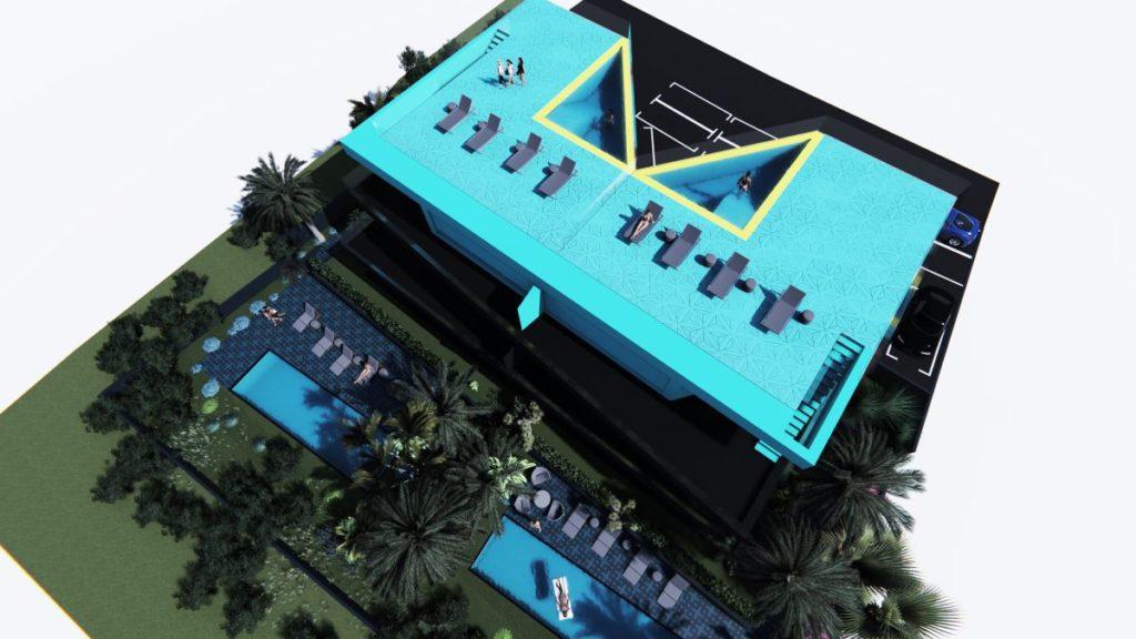 Villa M - pogled iz zraka