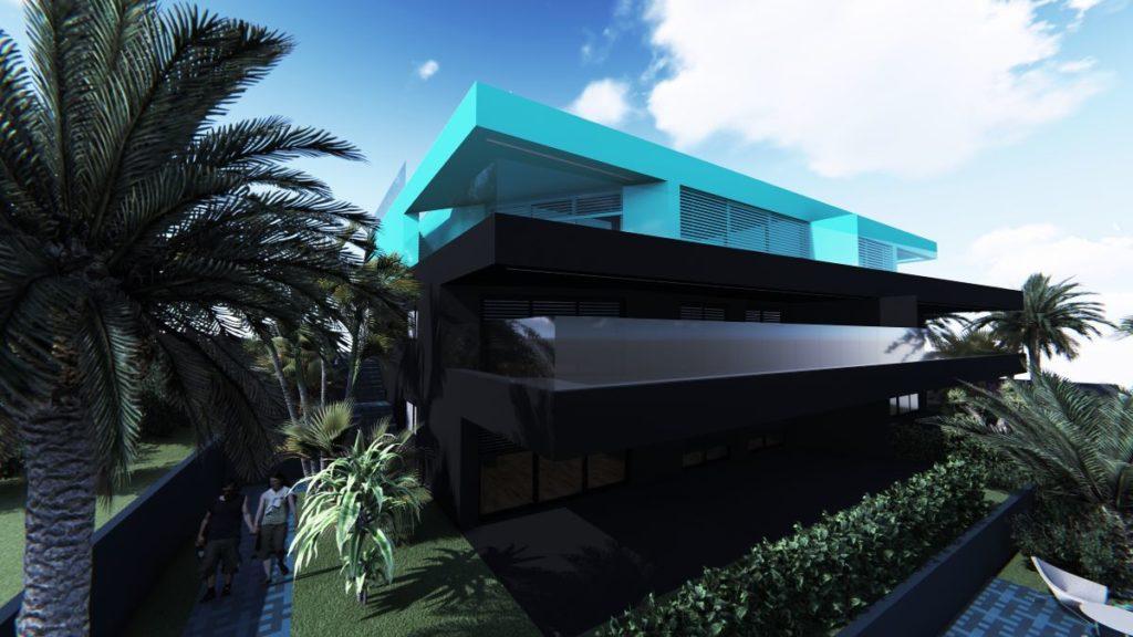 Villa M - pogled sa prednje strane