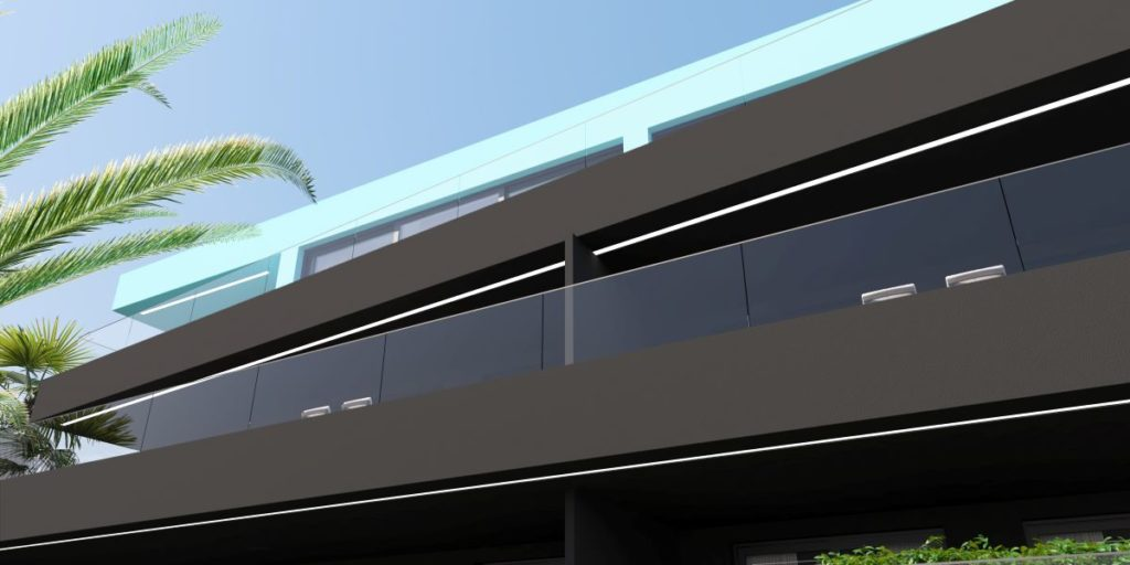 Pogled na fasadu Demit