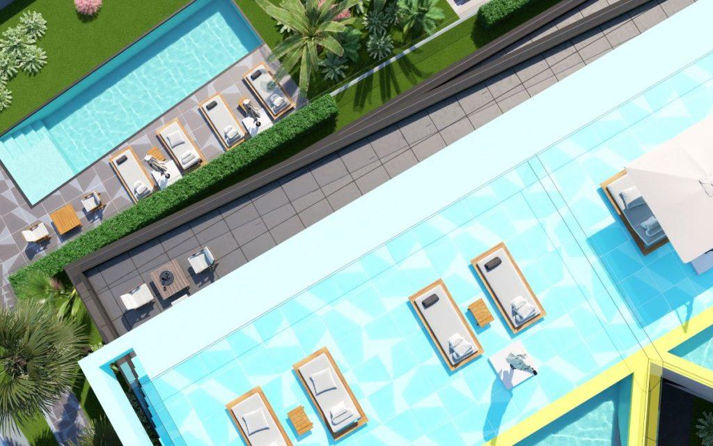 Sunčalište na krovu kraj bazena