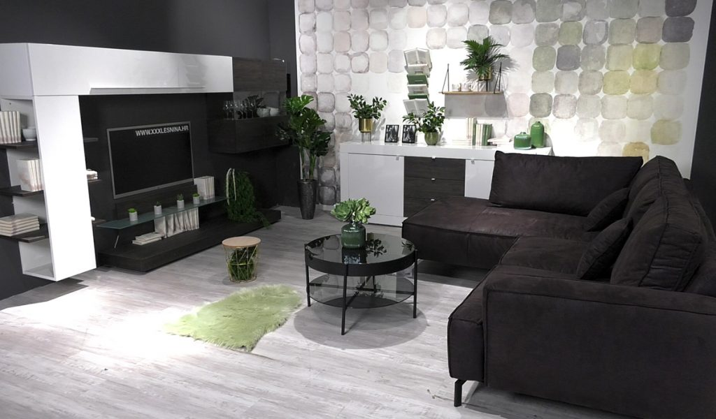 zelenilo-u-crno-bijelom-dnevnom-boravku-lesnina-domnakvadrat