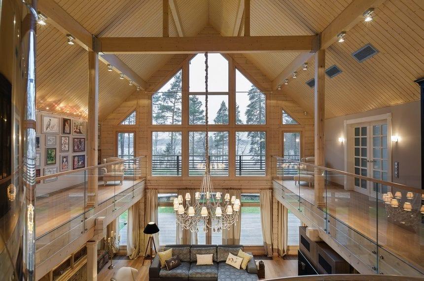 visoki-drveni-strop-montažna-kuća-domnakvadrat