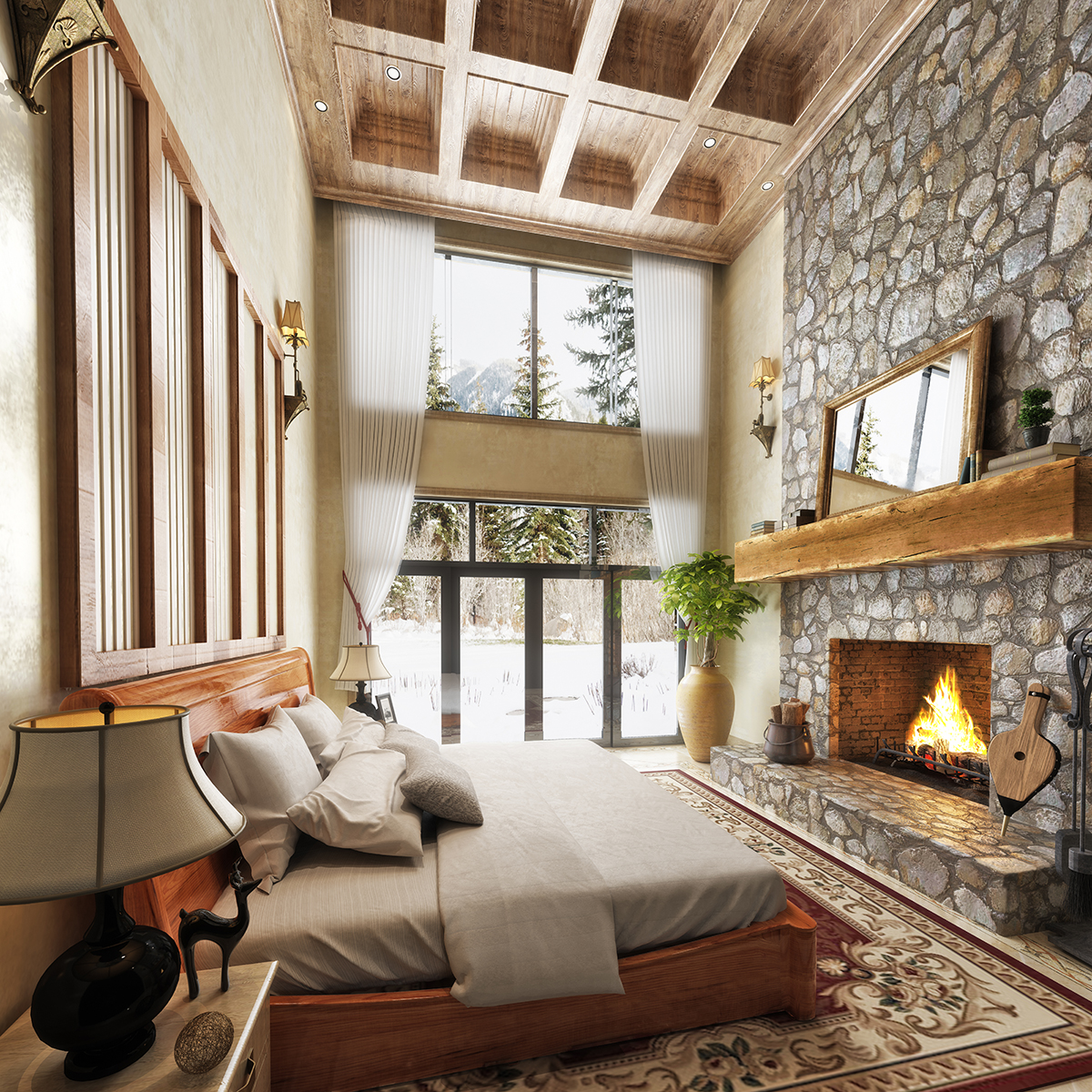 rustikalna-spavaća-soba-domnakvadrat