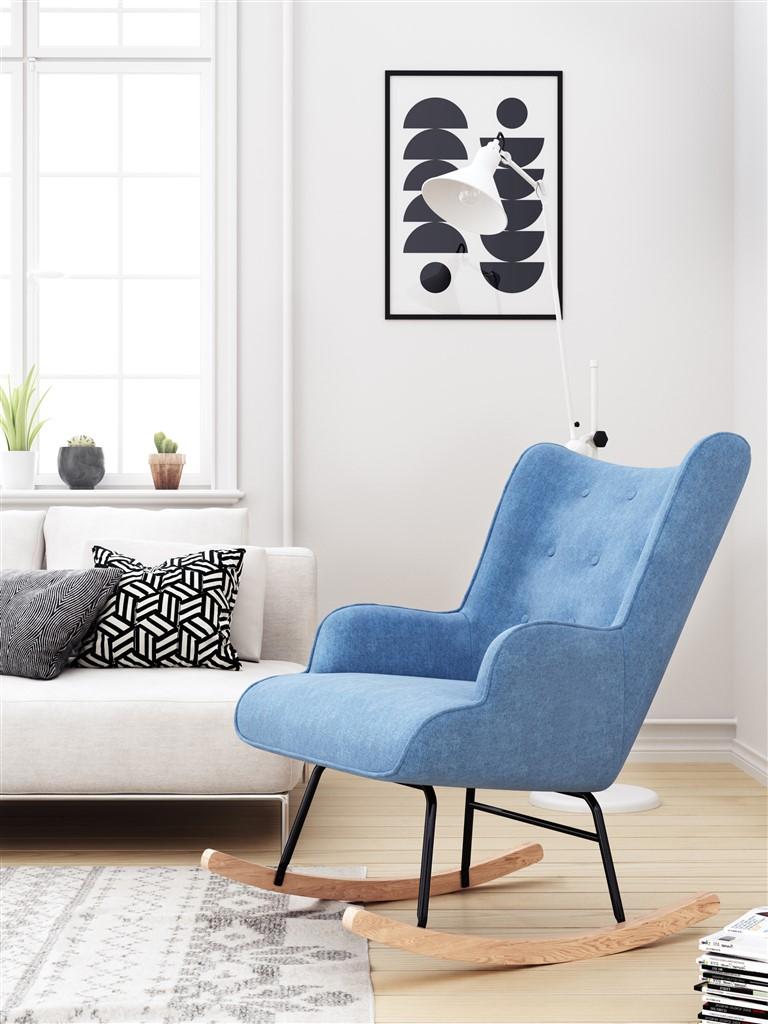 plava-stolica-za-ljujanje-mobel-land-domnakvadrat