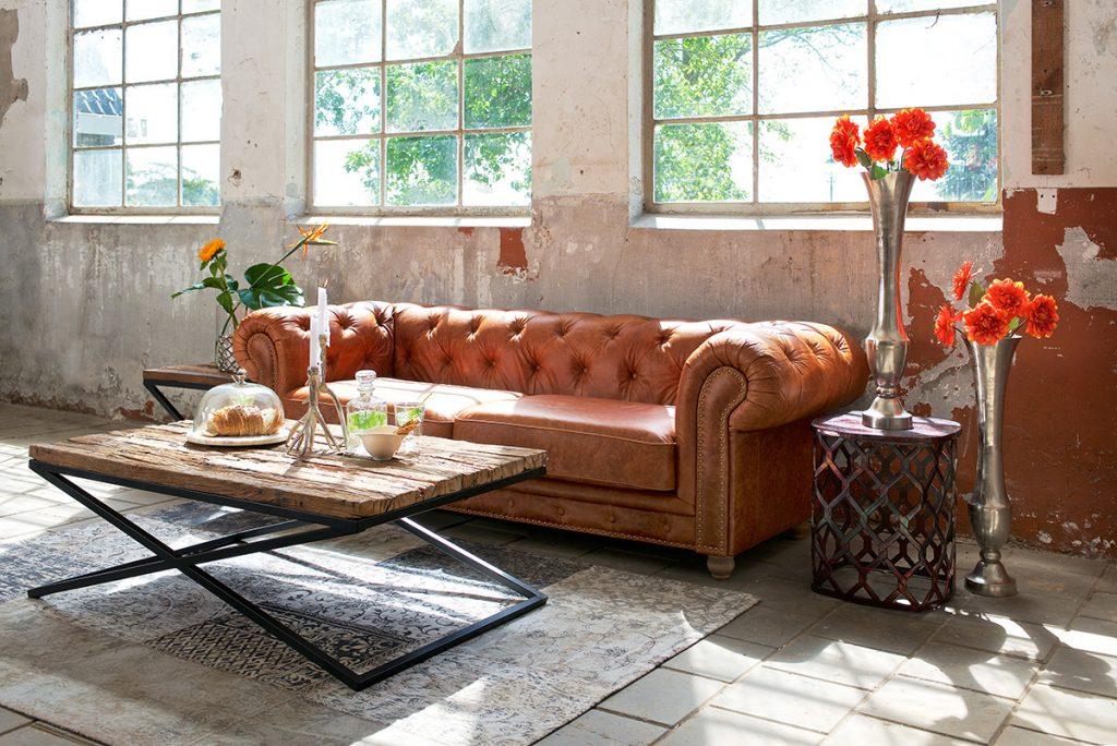 kožna-narančasta-sofa-mobel-land-domnakvadrat