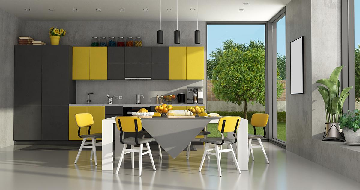 sivo-žuta-kuhinja-domnakvadrat