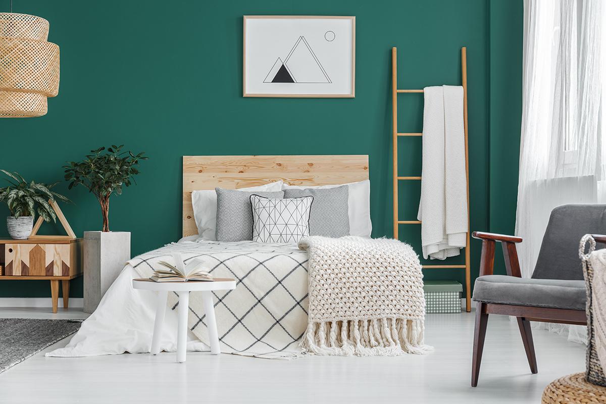 zelena-spavaća-soba-ljestve-domnakvadrat