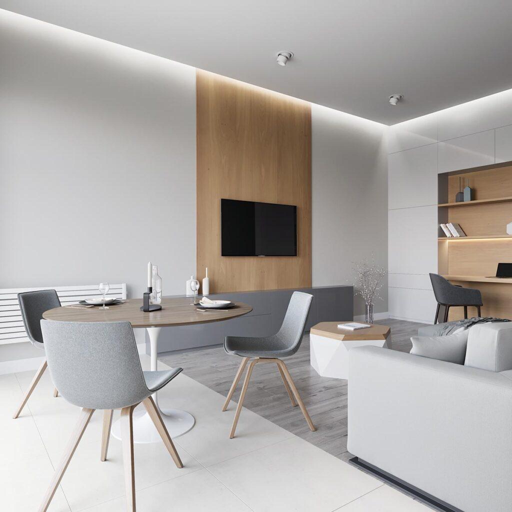 minimalistički-dnevni-boravak-bijelo-sivo-drveno-domnakvadrat