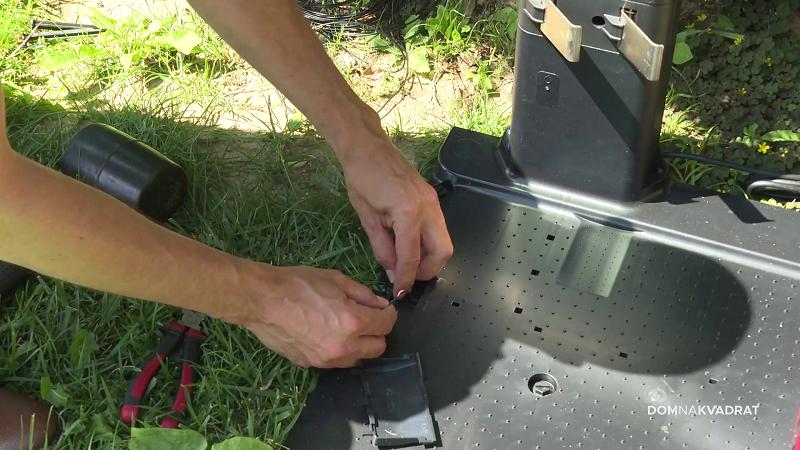 montiranje robotske kosilice žica