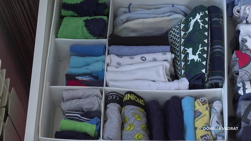 odjeća u ladici kako organizirati