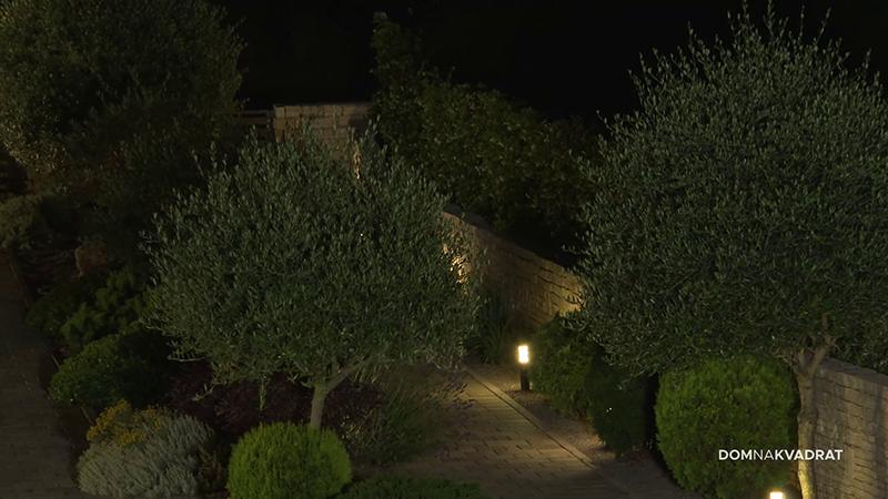 vrt osvjetljeni