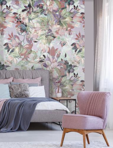 cvjetna-tapeta-spavaća-soba-pozor-domnakvadrat