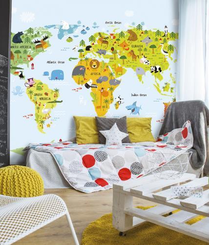 tapeta-karta-svijeta-dječja-soba-pozor-domnakvadrat