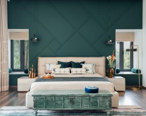 spavaća-soba-zelena-boja-kuća-indija-domnakvadrat