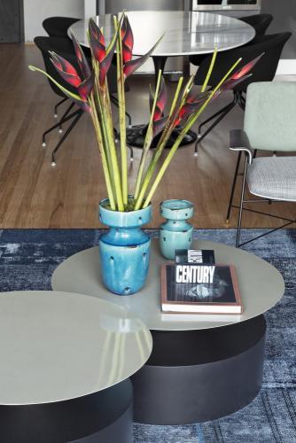 cvijeće-plave-vaze-klub-stolić-potkrovlje-brazil-domnakvadrat