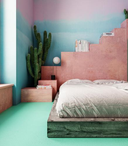 spavaća-soba-krevet-kaktus-stan-nyc-domnakvadrat